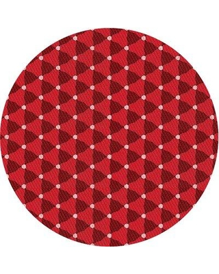 East Urban Home Chatteris Wool Red Area Rug W000336476 Rug Size: Round 3'