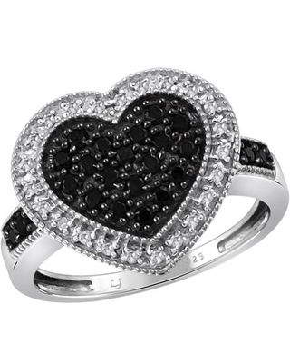 1/2 Carat T.W. Black and White Diamond Sterling Silver Ring