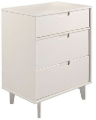 Forest Gate™ 3-Drawer Solid Wood Dresser in White