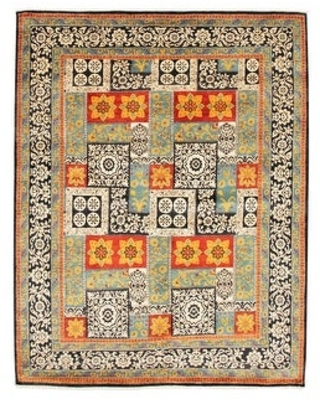 ECARPETGALLERY Hand-knotted Lahore Finest Turquoise Wool Rug - 8'2 x 10'3 (Turquoise - 8'2 x 10'3)