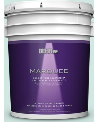 BEHR MARQUEE 5 gal. Home Decorators Collection #hdc-CT-26A Seaglass Eggshell Enamel Interior Paint & Primer