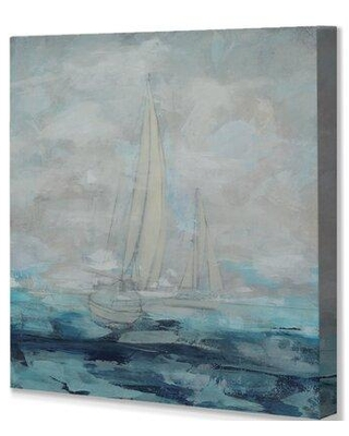 """Ebern Designs 'Into the Distance' Painting Print on Wrapped Canvas W001866549 Size: 32"""" H x 32"""" W x 1.5"""" D"""