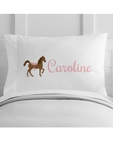 4 Wooden Shoes Personalized Horse Toddler Pillow Case WF-12-126