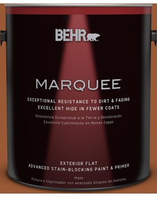 BEHR MARQUEE 1 gal. #240D-7 Chestnut Stallion Flat Exterior Paint and Primer in One