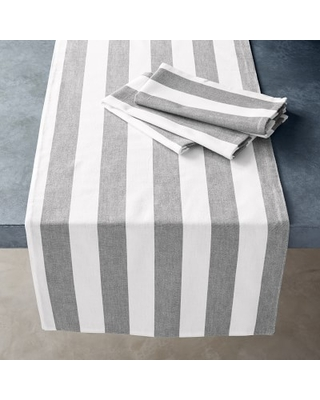 Open Kitchen by Williams Sonoma Chambray Table Runner, Grey
