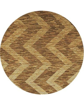 East Urban Home Patterned 1225 Brown Area Rug W002501879 Rug Size: Round 4'