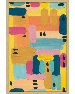 """George Oliver 'Vibrant Colors' Framed Acrylic Painting Print GOLV2981 Size: 30"""" H x 20"""" W"""