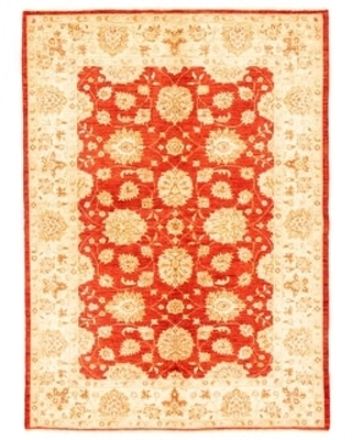 ECARPETGALLERY Hand-knotted Chobi Finest Red Wool Rug - 5'7 x 7'10 (Red - 5'7 x 7'10)