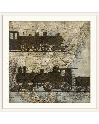 """Great Big Canvas 'Travel Silhouette I' Megan Meagher Graphic Art Print 1138554_1_ Size: 32"""" H x 32"""" W x 1"""" D Format: White Framed"""