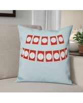 """The Holiday Aisle Happy Holidays Banner Print Throw Pillow HLDY1231 Color: Light Blue, Size: 26"""" H x 26"""" W"""