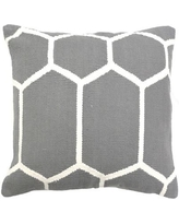 India's Heritage Cotton Woven Throw Pillow INHR1381 Color: Gray
