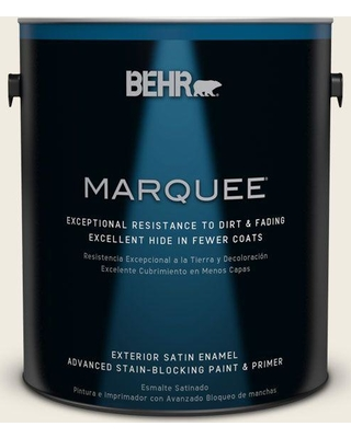 BEHR MARQUEE 1 gal. #PPU10-14 Ivory Palace Satin Enamel Exterior Paint and Primer in One
