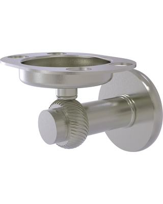 Allied Brass Mercury Collection Tumbler and Toothbrush Holder with Twisted Accents in Satin Nickel