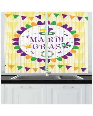 New Orleans 2 Piece Kitchen Curtain Set East Urban Home