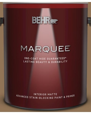 BEHR MARQUEE 1 gal. #290F-6 Warm Earth Matte Interior Paint and Primer in One