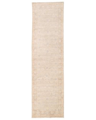 Vegetable Dye Hand-Knotted Ivory/Beige Area Rug Herat Oriental