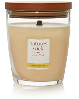 Nature's Wick Lemon Vetiver Scented Candle, 10 ounces