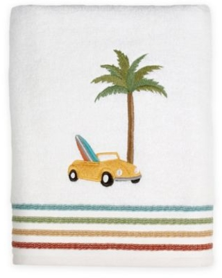 By the Surf Bath Towel in White