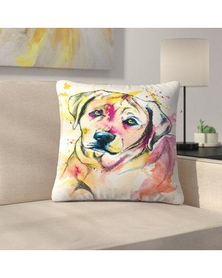 """East Urban Home Colorful Lab Mix Throw Pillow FVON7075 Size: 18"""" x 18"""""""