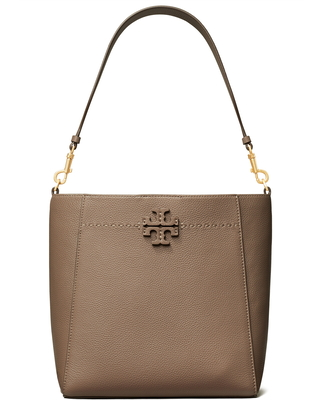 Tory Burch Mcgraw Leather Hobo - Black