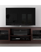 "Furnitech 70"" FT70CCW Contemporary TV Stand Media Console (Wenge)"