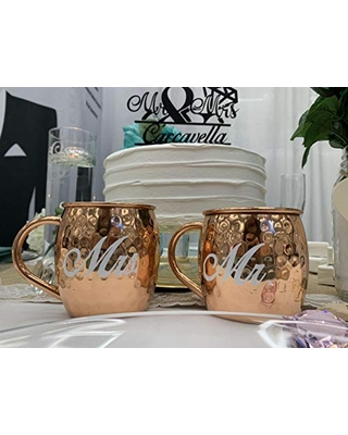 Personalized Copper Mule Mugs by Wedding Tokens