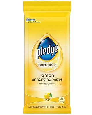 Pledge Beautify All-Purpose Cleaner, Lemon, 24/Pack (624489) | Quill