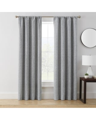 Brookstone Troy 100-Percent Blackout Window Curtain Panel (95 Inches - Grey)