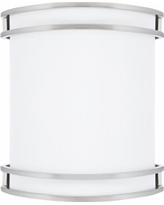 """Victore White 10 1/2"""" High Brushed Nickel LED Wall Sconce"""