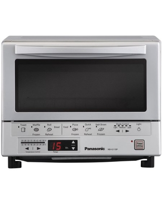 Panasonic FlashXpress Silver Toaster Oven in Silver