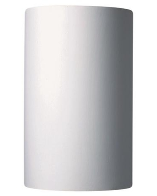 Justice Design Ambiance 2-Light Large ADA Cylinder Bisque Wall Sconce