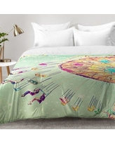East Urban Home Swinging Through Stars Comforter Set EAHU7470 Size: King