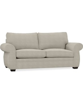 Pearce Upholstered Sleeper Sofa, Polyester Wrapped Cushions, Performance Heathered Tweed Pebble