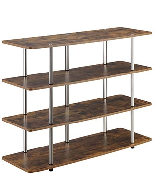 Convenience Concepts Designs2Go XL Highboy 4-Tier TV Stand, Barnwood