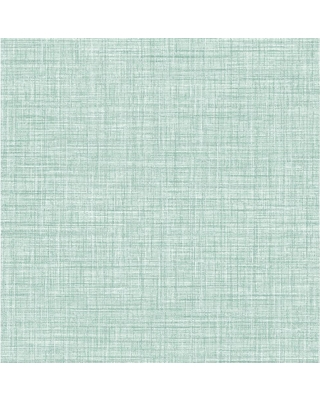 Special Prices On Brewster Tuckernuck Teal Linen Paper Strippable Wallpaper Covers 56 4 Sq Ft Blue