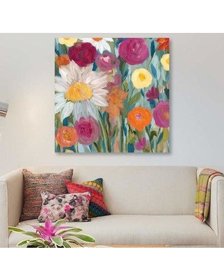 """East Urban Home 'Earth at Daybreak' Graphic Art Print on Canvas EBHU7698 Size: 26"""" H x 26"""" W x 0.75"""" D"""