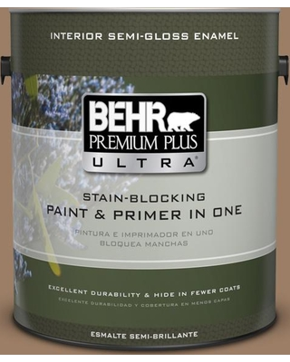 BEHR Premium Plus Ultra 1 gal. #MQ2-19 Home Sweet Home Semi-Gloss Enamel Interior Paint and Primer in One
