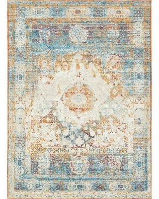 Bungalow Rose Hartell Beige Area Rug BNRS7799 Rug Size: Rectangle 9' x 12'