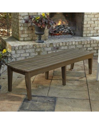 """Uwharrie Chair Hourglass Picnic Bench H09 Size: 17"""" H x 45"""" W x 19.5"""" D Color: Golden Mustard Wash"""