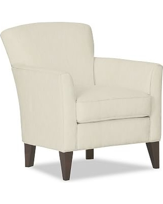 Marcel Upholstered Armchair, Polyester Wrapped Cushions, Premium  Performance Basketweave Ivory