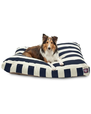 Majestic Pet Products Navy Blue Polyester Rectangular Dog Bed (For Large)   788995502180