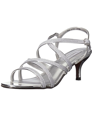 Touch Ups Women's Emery Heeled Sandal, Silver, 6 M US