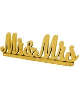 aMonogramArtUnlimited Mr and Mrs Wedding Décor 961013 Color: Gold