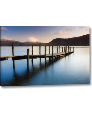 """Millwood Pines 'Brandlehow Bay Jetty' Graphic Art Print on Wrapped Canvas BF155362 Size: 11"""" H x 16"""" W x 1.5"""" D"""