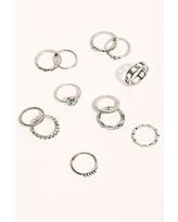 Honey Ring Set by Free People, Silver, One Size