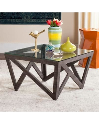 Cyber Monday Ping Special Safavieh Contemporary Gl Top Gold Coffee Table