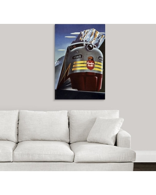 """GreatBigCanvas """"Canadian Pacific Train - Vintage Travel Advertisement"""" by Vintage Apple Collection Canvas Wall Art, Multi-Color"""