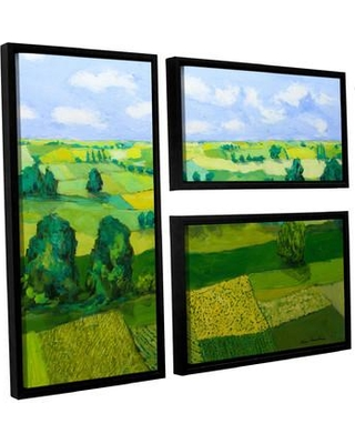 Darby Home Co Minnesota Fields 3 Piece Framed Painting Print on Canvas Set DRBC2885