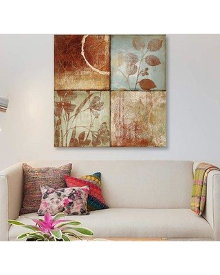 """East Urban Home 'Treasures I' Graphic Art Print on Canvas ETRB2642 Size: 37"""" H x 37"""" W x 0.75"""" D"""