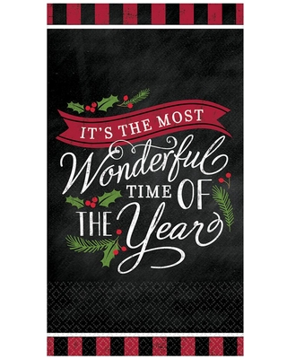 Amscan Most Wonderful Time 3 in. x 3.75 in. Paper Christmas 9 oz. Cups (18-Count, 3-Pack)
